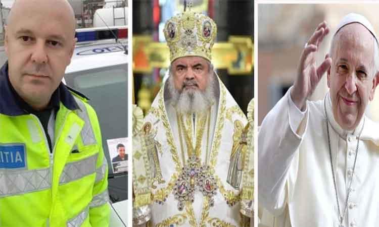 Poliţistul de la Rutieră l-a provocat pe Patriarhul Bisericii Ortodoxe Române să îşi doneze salariul pentru a ajuta un copil bolnav de cancer: 'Mi-a venit ideea după întâlnirea Preafericitul Daniel cu Papa Francisc'