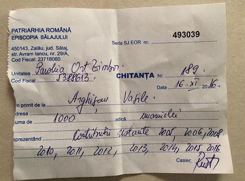"""1.000 de lei pentru """"taxa de Rai"""" cerută de un preot pentru o familie săracă"""