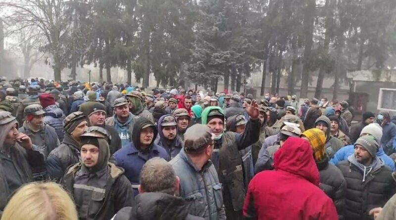 ULTIMA ORA! Protestele minerilor nu se mai termină. Sute de bărbați au ieșit în stradă